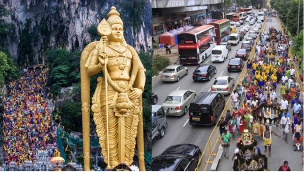Thaipusam-road-closure - source The Lion Raw