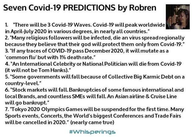 7 Covid-19 Predictions by Robren