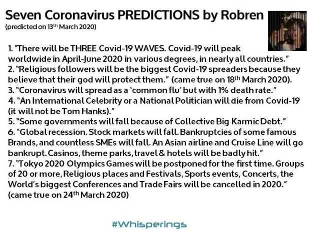 7 Covid-19 Predictions by Robren