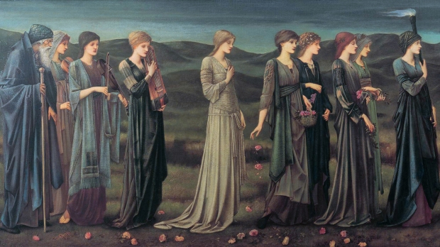 Psyche's wedding, by Edward Coley Burn-Jones
