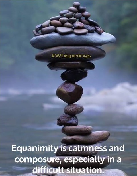Equanimity is calmness