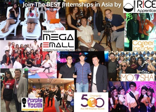 Join The Best Internship in Asia